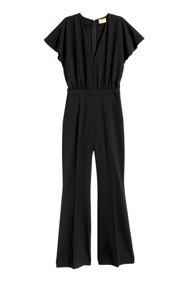 V-neck jumpsuit - Black -  | H&M IE