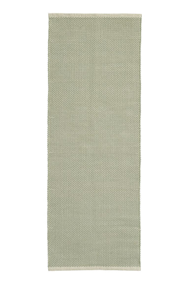 Patterned cotton rug - Natural white/Light green -  | H&M GB