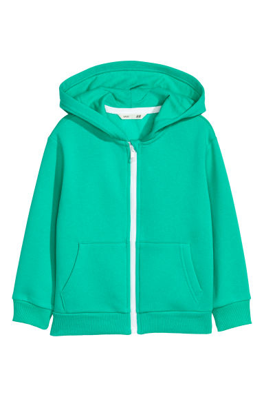 Hooded jacket - Bright green -  | H&M CN