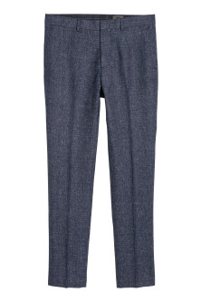 Pantalon van wolmix - Slim fit