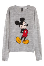 Pull en maille fine - Gris/Mickey - FEMME | H&M BE 2