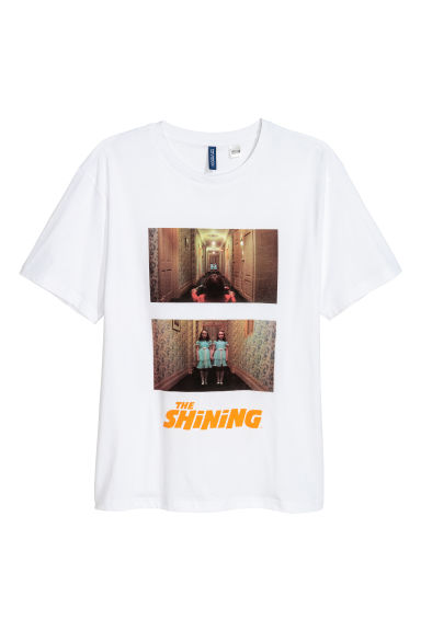 T-shirt with a motif - White/The Shining - Men | H&M GB