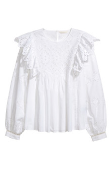 Blouse avec broderie anglaise
