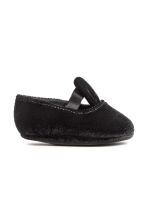 Velour slippers - Black - Kids | H&M CN 1