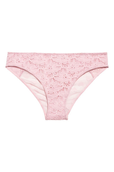 Lace bikini briefs - Powder pink -  | H&M