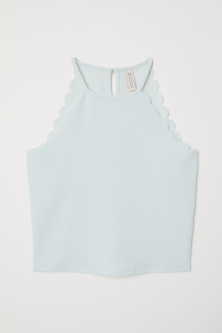 Scallop-edged Top