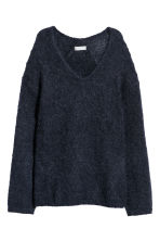 Mohair-blend jumper - Navy blue - Ladies | H&M 2
