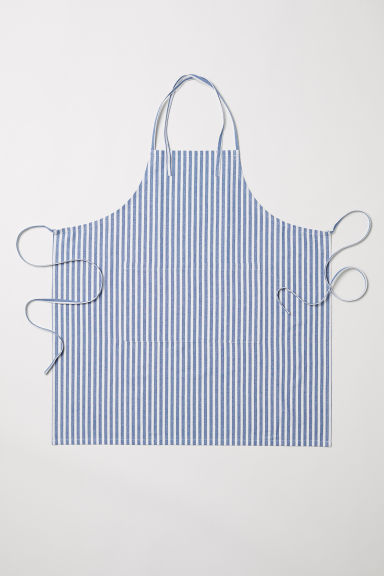 Cotton apron - Blue/White striped - Home All | H&M CN