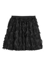 Skirt with fringes - Black - Ladies | H&M 2
