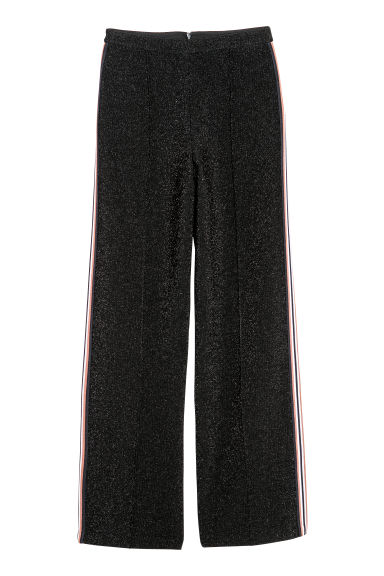 Glittery trousers - Black/Glitter - Ladies | H&M