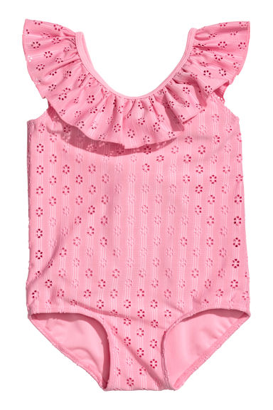 Patterned swimsuit - Pink -  | H&M