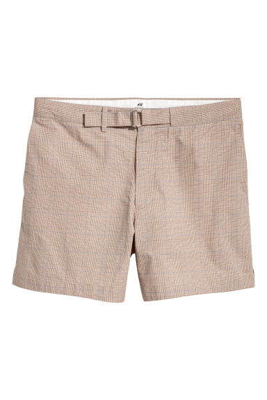 Short à carreaux - Beige/carreaux - HOMME | H&M CH