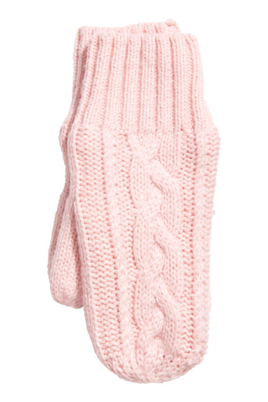 Fleece-lined mittens - Light pink - Kids | H&M