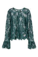 Lace blouse - Dark green - Ladies | H&M 1