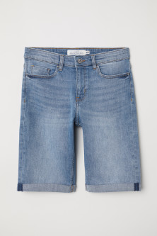 Knee-length Denim Shorts