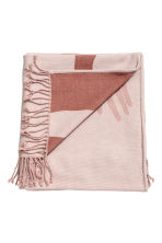 Jacquard-weave blanket - Powder pink/Hands - Home All | H&M GB 1