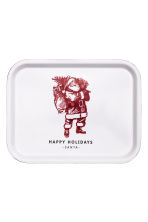 Christmas-motif tray - White/Santa -  | H&M GB 1