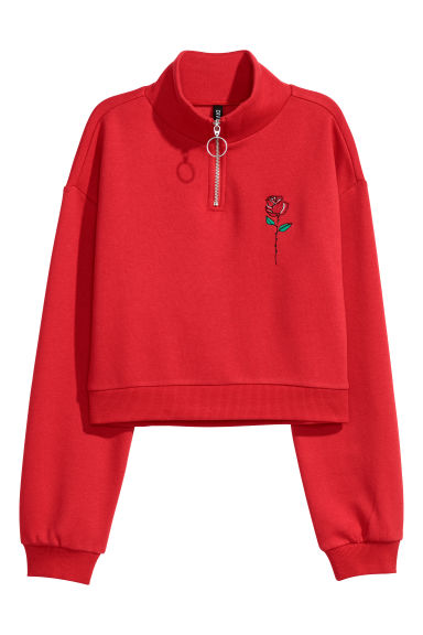 Sweat court - Rouge -  | H&M CH