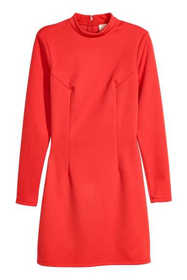 Fitted dress - Bright red -  | H&M