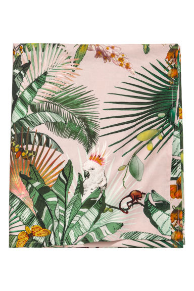Patterned cotton tablecloth - Pink/Jungle - Home All | H&M GB