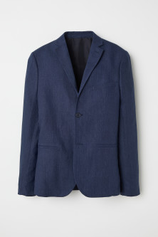 Linen jacket Slim fit