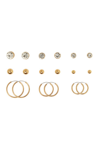 9 pairs earrings - Gold-coloured - Ladies | H&M GB