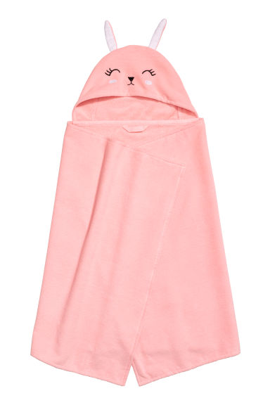 Hand towel with a hood - Light pink - Home All | H&M IE