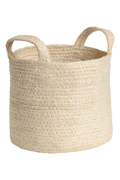 Jute storage basket - Natural white -  | H&M IE
