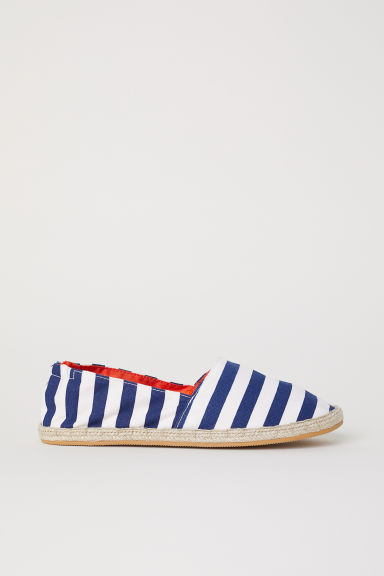 Espadrilles - Donkerblauw/wit gestreept -  | H&M BE