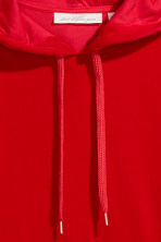Velour hooded top - Red - Ladies | H&M 3