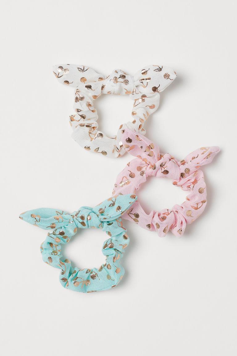 3-pack shimmering scrunchies - Light pink/Shimmering - Kids | H&M GB