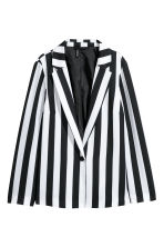 Patterned jacket - White/Black striped -  | H&M CN 2