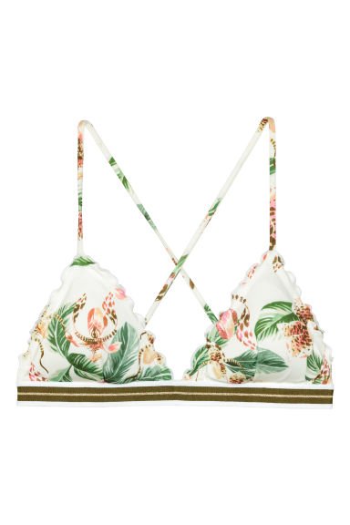 Bikini top - Natural white/Patterned - Ladies | H&M