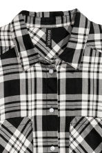 Checked shirt - Black/Checked - Ladies | H&M GB 3