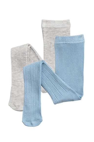 2-pack tights - Grey/Teal -  | H&M GB