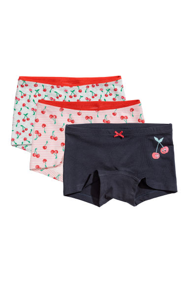 3-pack boxer briefs - Dark blue/Cherries - Kids | H&M