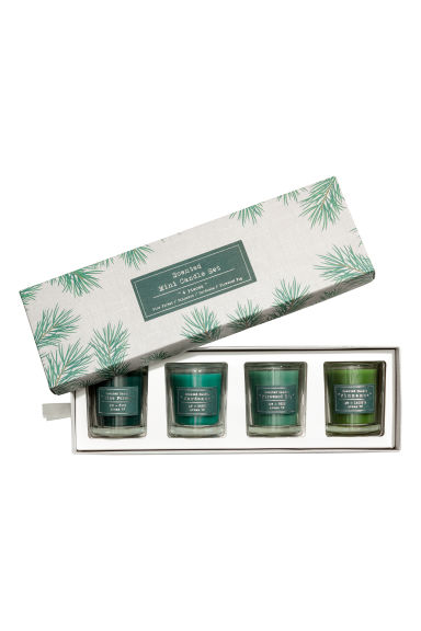 Boxed 4-pack scented candles - Green -  | H&M IE