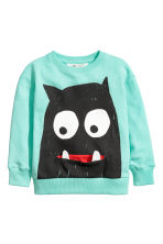 Printed sweatshirt - Light green - Kids | H&M CN 1