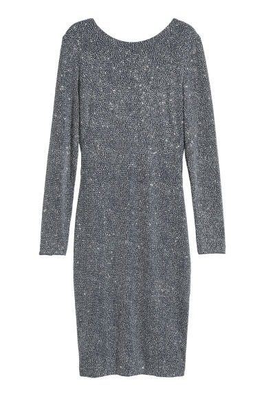 Draped dress - Silver-coloured - Ladies | H&M
