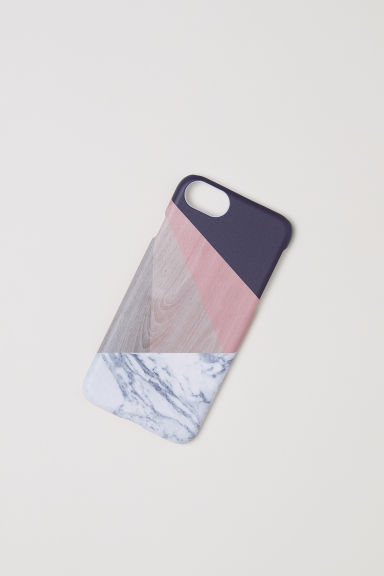 iPhone 6/7 case - Multicoloured/Marble-patterned - Ladies | H&M