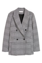 Double-breasted blazer - Zwart/dogtooth - DAMES | H&M NL 2