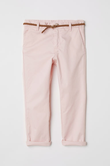 Cotton twill chinos - Light pink -  | H&M CN