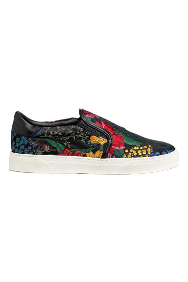 Floral slip-on trainers