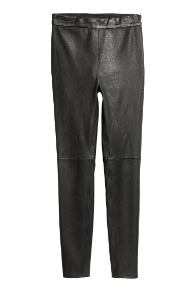Pantaloni in pelle - Nero -  | H&M IT