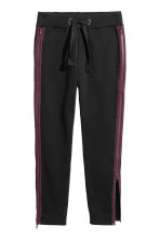 Sweatpants with zips - Black - Men | H&M 2