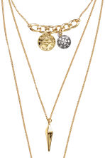 Three-strand necklace - Gold-coloured - Ladies | H&M 2