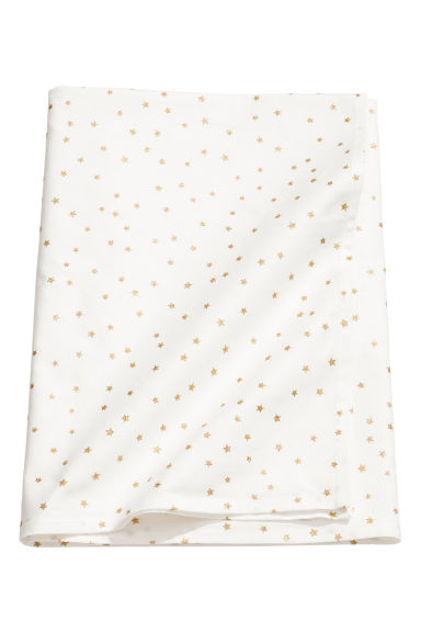 Star-print cotton tablecloth - White/Stars - Home All | H&M IE