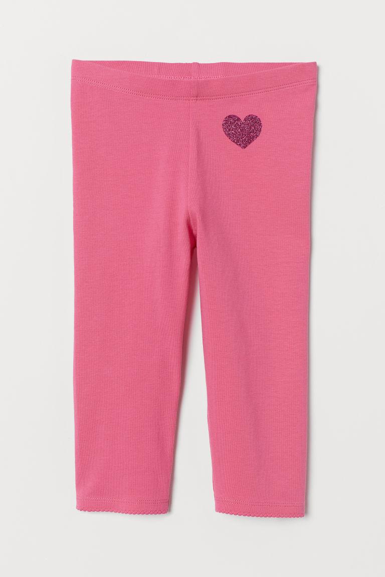 3/4-length leggings - Pink/Heart - Kids | H&M GB