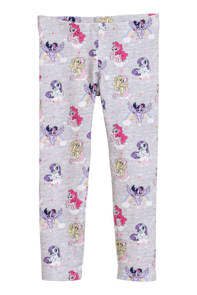 Trikåleggings - Ljusgrå/My Little Pony -  | H&M SE