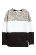 Sweat - Noir/color block - ENFANT | H&M FR 2